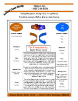 Terpco Sentry Drain Cover vs. Tarp and Sand Savings